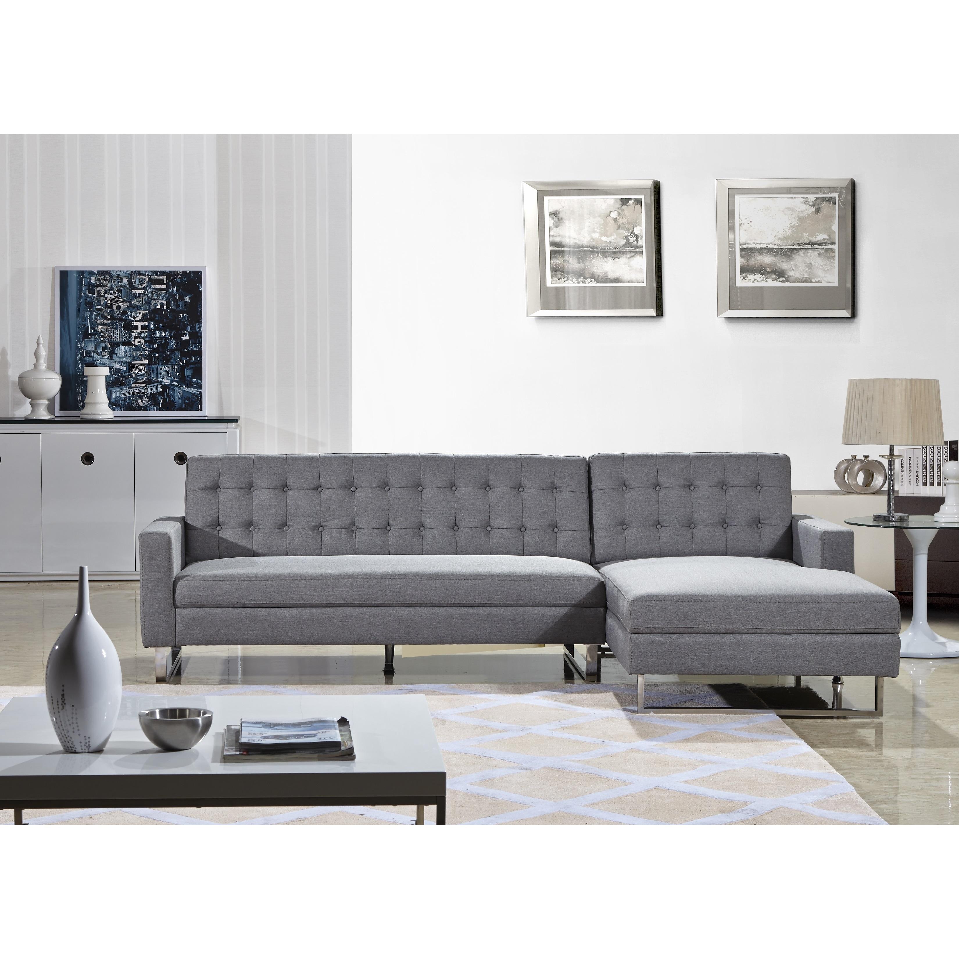 US Pride Furniture Dorris Fabric Contemporary Right Chais...