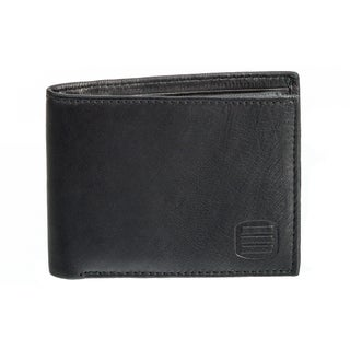 Suvelle Men's Leather Slim Bifold Wallet with Removable Flip-up ID Window