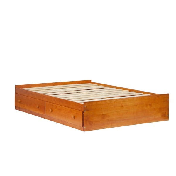 kansas solid wood full size storage bed
