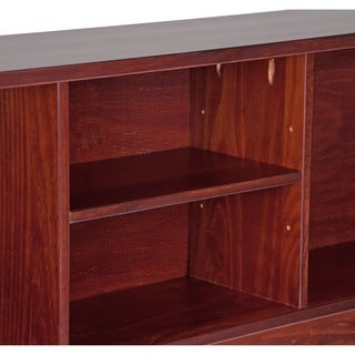 Kansas Solid Wood Full Size Bookcase Headboard