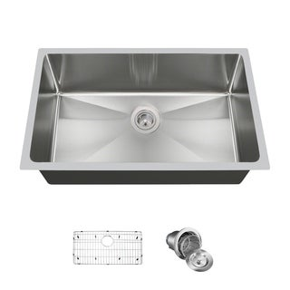 "MR Direct 3120S Single Bowl 3/4"" Radius Sink, Grid, and Basket Strainer"