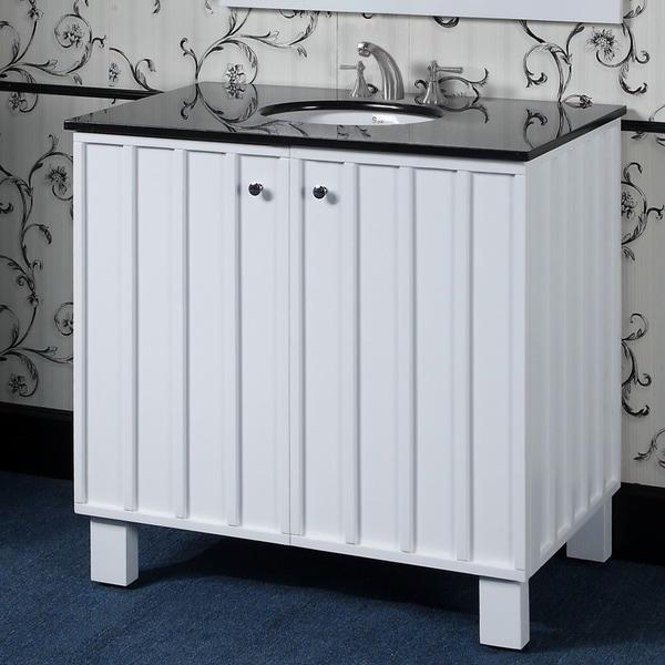 65 Inch Bathroom Vanity Single Sink: Shop Granite Black/ White Single Sink 36-inch Bathroom
