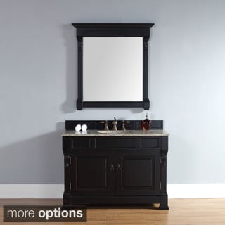 48-inch Brookfield Antique Black Single Cabinet Vanity