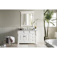 """Brookfield 48"""" Single Cabinet w/ Drawers, Cottage White"""