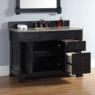 48 Inch Brookfield Antique Black Single Drawer Vanity. Black Finish Bathroom Vanities   Vanity Cabinets   Shop The Best