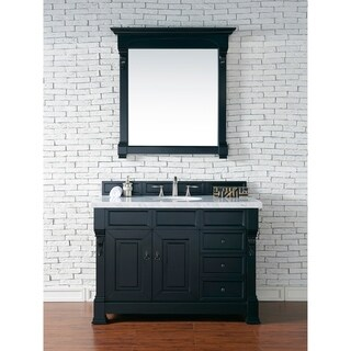 "Brookfield 48"" Antique Black Single Vanity w/ Drawers"