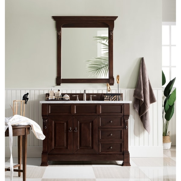 """Brookfield 48"""" Single Cabinet w/ Drawers, Burnished Mahogany. Opens flyout."""
