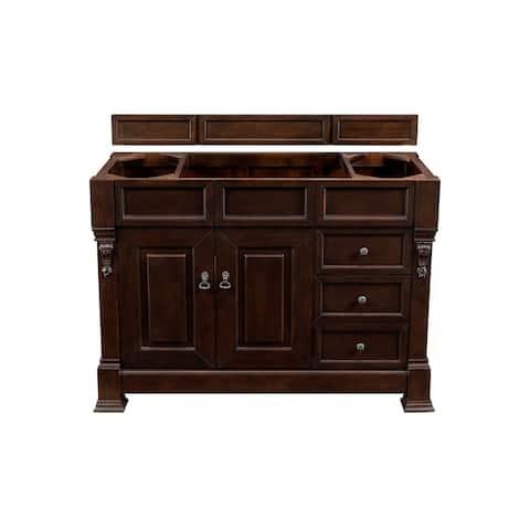 "Brookfield 48"" Single Cabinet w/ Drawers, Burnished Mahogany"