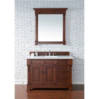 48-Inch Brookfield Warm Cherry Single Drawer Vanity