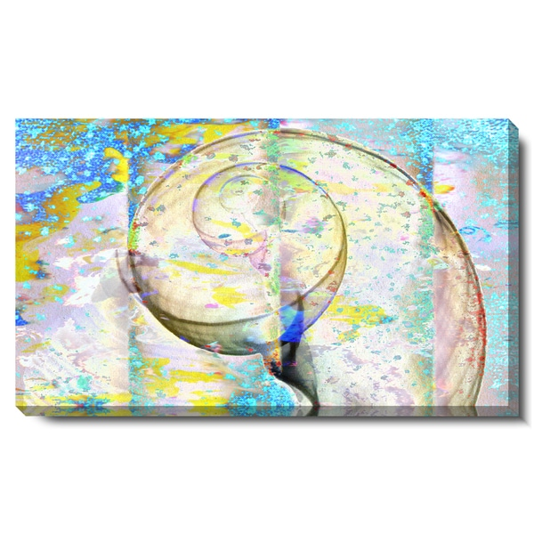 Studio Works Modern 'Neptune Seashell' Fine Art Gallery Wrapped Canvas Print