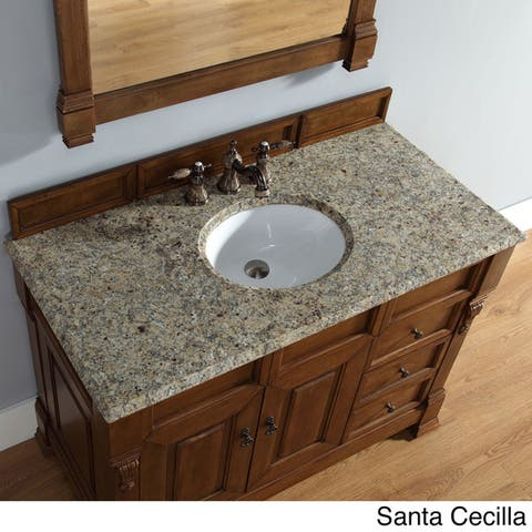 "Brookfield 48"" Single Cabinet w/ Drawers, Country Oak"