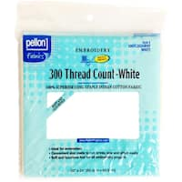 "300 Thread Count Cotton Fabric For Embroidery-White 20""X24"""