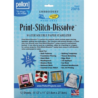 11 by 2-Yard Pellon Sticky-Grid-N-Wash Stabilizer for Stamped Cross Stitch White