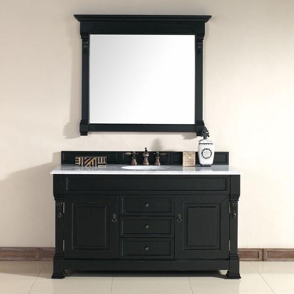 60-Inch Brookfield Antique Black Single Vanity - 60-Inch Brookfield Antique Black Single Vanity - Free Shipping