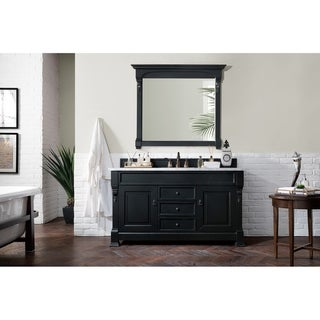 "Brookfield 60"" Single Antique Black Vanity"