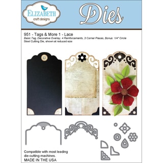 Elizabeth Craft Tags & More Metal Dies-Tag 1