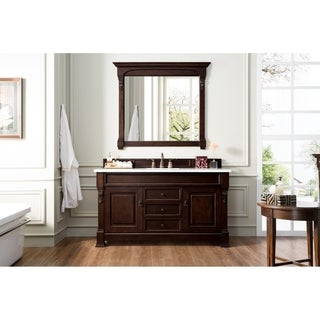 "Brookfield 60"" Burnished Mahogany Single Vanity"