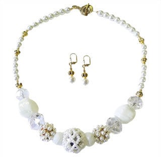 Palmtree Gems 'Phaedra II' Necklace and Earring Set