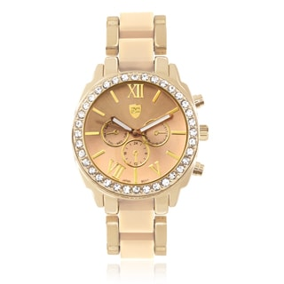 Women's Journee Collection Rhinestone Link Watch