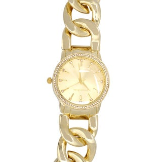 Journee Collection Rhinestone Chain Band Watch