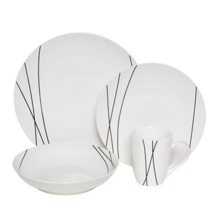 Melange Coupe Lines Premium 32-piece Place Setting