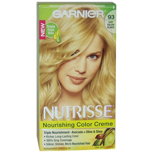 Garnier Nutrisse Nourishing Color Creme #93 Light Golden ...