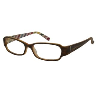 Kate Spade Women's Gene Brown / Inside Stripe Rectangular Reading Glasses