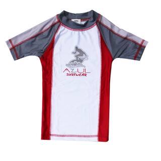 Azul Swimwear Combination Short Sleeve Red Rash Guard|https://ak1.ostkcdn.com/images/products/9668325/P16849325.jpg?impolicy=medium