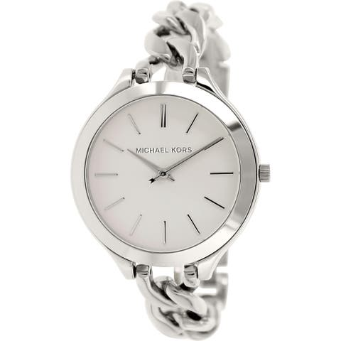 Michael Kors Women's MK3279 Slim Runway Stainless Steel Watch