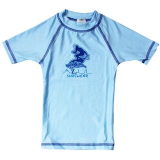 Azul Swimwear Short Sleeve Light Blue Solid Rash Guard|https://ak1.ostkcdn.com/images/products/9668349/P16849338.jpg?impolicy=medium