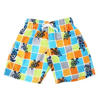 Azul Swimwear Boys 'Turtle Grid' Swim Shorts