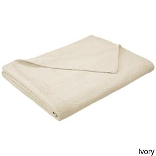 Superior All-season Luxurious 100-Percent Cotton Metro Blanket (Option: Twin/Twin XL - Ivory)