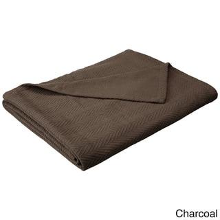 Superior All-season Luxurious 100-Percent Cotton Metro Blanket (Charcoal - King)