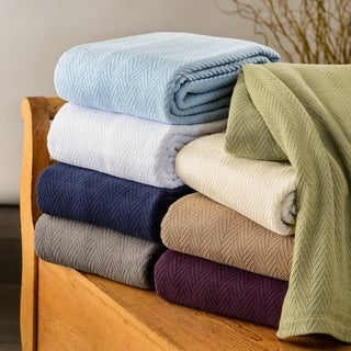Superior All-season Luxurious 100-Percent Cotton Metro Blanket