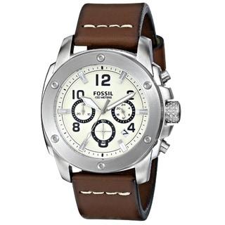 Fossil Men's FS4929 'Modern Machine' Chronograph Leather Watch