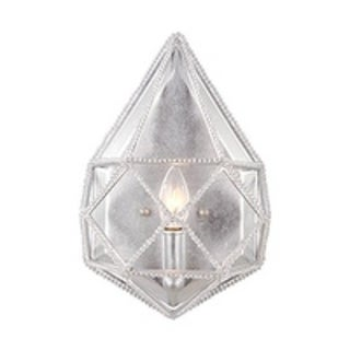 Marquise 1-light Silver Wall Sconce
