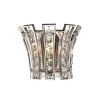 Soros 1-light Ebonized Silver Leaf Wall Sconce