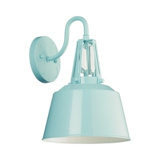 Wall Bracket 1-light High Gloss Blue Wall Sconce