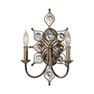 Feiss Leila 2-Light Wall Bracket, Burnished Silver