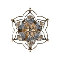 Feiss Leila 1-Light Wall Bracket, Burnished Silver