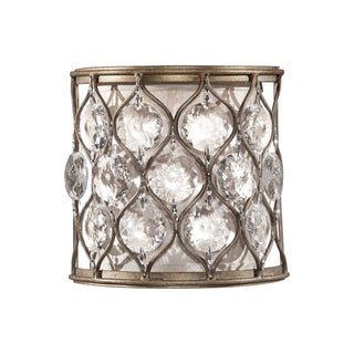Feiss Lucia 1 - Light Sconce, Burnished Silver