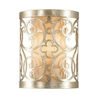 Arabesque Silver Leaf Pata 1-light Wall Sconce