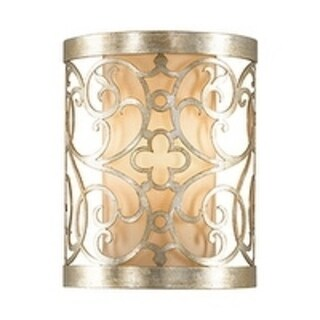 Feiss Arabesque 1 - Light Sconce, Silver Leaf Patina