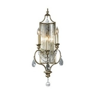 Gianna Gilded Silver 3-light Wall Sconce