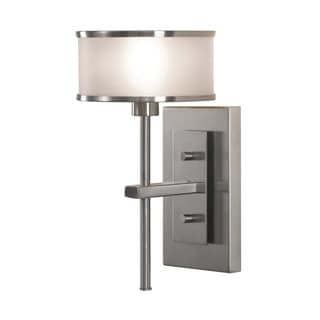 Feiss Casual Luxury 1 - Light Sconce, Brushed Steel