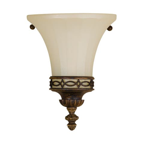 Feiss Drawing Room 1 - Light Sconce, Walnut