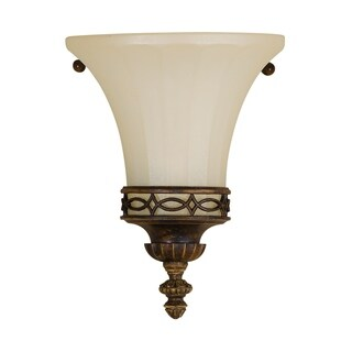 Drawing Room 8-ch Wall Light Walnut 1-light Wall Sconce