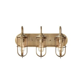 3-light Dark Antique Bronze Vanity Strip
