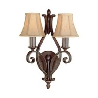 Murray Feiss Tuscan Villa 2-light Corinthian Bronze Wall Sconce