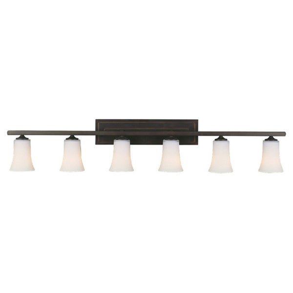 Murray Feiss Boulevard 6 Light Oil Rubbed Bronze Vanity Fixture Free Shippi